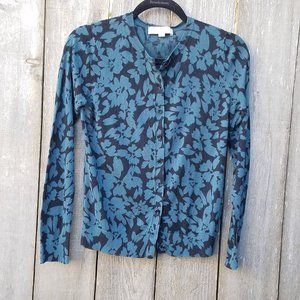 Ann Taylor LOFT Floral Cardigan - Size Medium